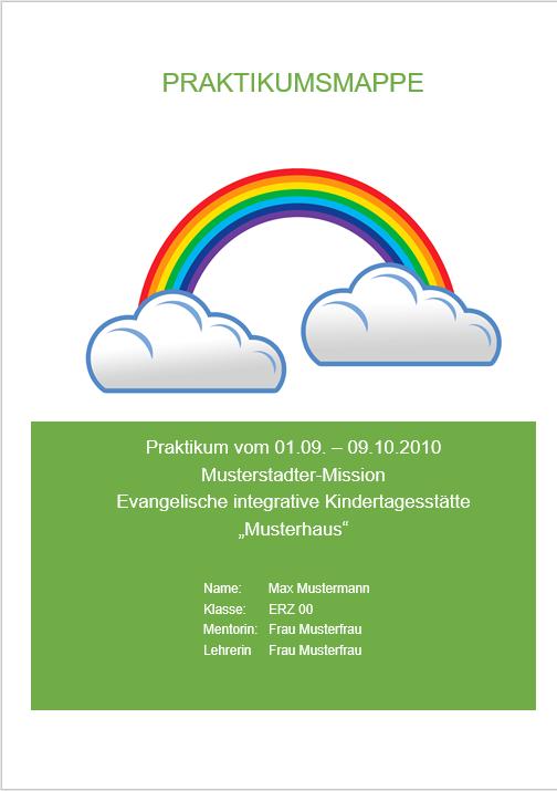 Beispiel Deckblatt Für Praktikumsberichte Im Kindergarten