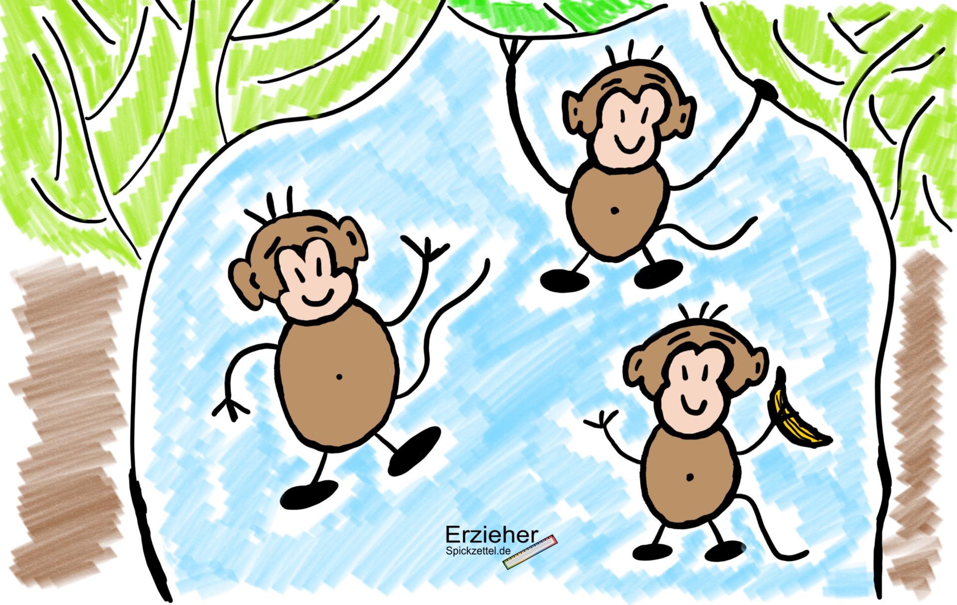 """Kurzfristige Planung - """"Die Affen rasen durch den Wald - Wir singen und musizieren gemeinsam"""""""
