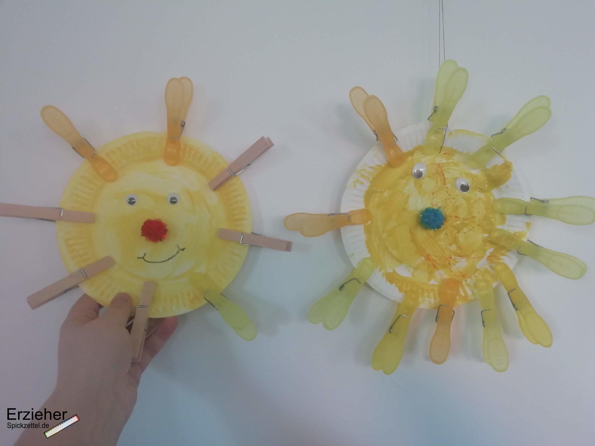 gebastelte Sonnen